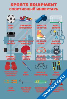 Плакат спортивный инвентарь
