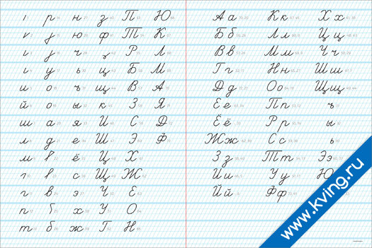 Плакат приемы и примеры рукописи (прописи)