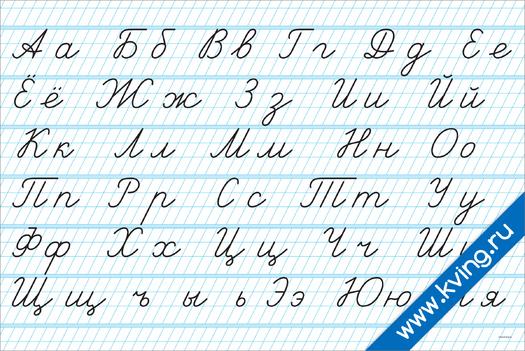 Плакат рукописные, прописные  и строчные буквы: прописи